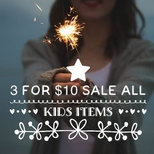 Bundle 3 kids items for $10